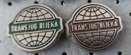 TRANSJUG Rijeka  Transportation Company, Transport, Ship Boat Croatia Ex Yugoslavia Pins - Trasporti
