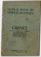 BELGIQUE. WOLUWE- SAINT- LAMBERT. LIVRET. LOI Sur Le TRAVAIL Des FEMMES Et Des ENFANTS. - Historische Documenten