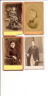 LOT De 4 CDV Photo ( Photographe DESCLOZ à BOURGOIN 38 ISERE  ) - Anciennes (Av. 1900)
