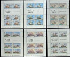 TUVALU 1981 Ships SPECIMEN Sheetlets:6x8 ERROR:spelling Ship One Sheetlet - Tuvalu