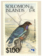 (SS 20)  Solomon Islands - AUSIPEX 884 Melbourne Stamp Show - Show's $1.00  Bird Stamp - Uccelli