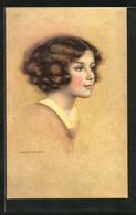Künstler-AK Sign. C. Warde Traver: Liebliches Mädchen Mit Dunklem Haar - Andere Illustrators