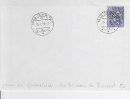Pro Juventute No J 251 Sur Lettre Oblitérée Le Jour De Fermeture De La Poste De Territet, Le 15.2.75 - Cartas