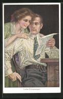 Künstler-AK Sign. John Wood: Liebe Erinnerung - Andere Illustrators