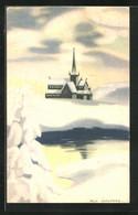 Künstler-AK Sign. Milly Heegaard: Kirche In Eisiger Winterlandschaft - Andere Illustrators