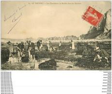 76 LE TREPORT. Les Chercheurs De Moules. Poissons Et Crustacés. Pêcheurs Métiers De La Mer - Le Treport