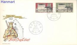 Norway 1961 Mi 456-457 FDC  (FDC ZE3 NRW456-457) - Schlösser U. Burgen