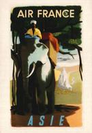 PUBLICITE    CPM    Air France Asie Illustrateur André Golven 1950 - Advertising