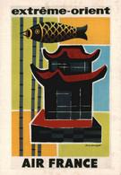 PUBLICITE    CPM    Air France Extême - Orient  Illustrateur Guy Georget 1956 - Advertising