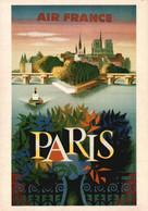 PUBLICITE    CPM    Air France Paris Illustrateur Nathan 1957 - Advertising