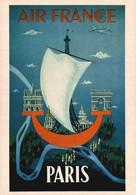PUBLICITE    CPM    Air France Paris  1951 - Advertising