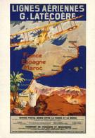 PUBLICITE    CPM    Air France Lignes Aériennes G. Latécoère 1921 - Advertising