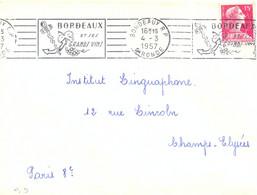 BORDEAUX GIRONDE OMec RBV 4-3-1957 …/ ET SES / GRANDS VINS - Mechanical Postmarks (Advertisement)
