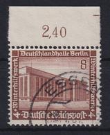Deutsches Reich 1936 Deutschlandhalle Mi.-Nr. 638 Oberrandstück Gestempelt - Zonder Classificatie