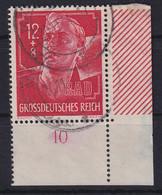 Deutsches Reich 1944 Reichsarbeitsdienst Mi.-Nr. 895 Eckrandstück UR Gestempelt - Zonder Classificatie
