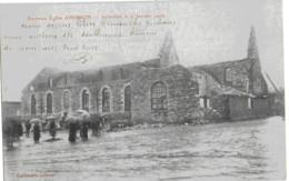 HIRSON - ANCIENNE EGLISE D'HIRSON - INCENDIEE LE 9 JANVIER 1906 - BELLE ANIMATION - 1906 - Hirson