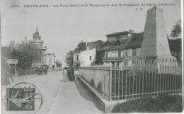 CHATILLON - LA TOUR BIRET ET LE MONUMENT DES DEFENSEURS DE PARIS - BELLE ANIMATION - 1905 - Châtillon