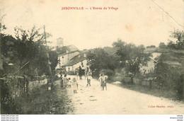 WW 88 JESONVILLE. L'Entrée Du Village 1907 Enfant Sur échasses (pli Coin Droit) - Altri Comuni