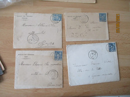 Soreze Lot De 2 Lettre Timbre Sage Type 18  Ou 84 Ecole De Soreze - 1877-1920: Periodo Semi Moderno