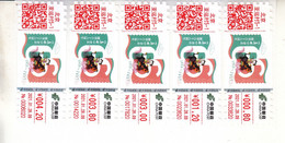 China 2021 66th Anniversary Of The Magazine Philately  ATM Label Stamps 5v - Postkaarten