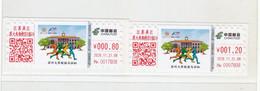 China 2020 Soochow University Marathon  ATM Label Stamps 2v - Postales