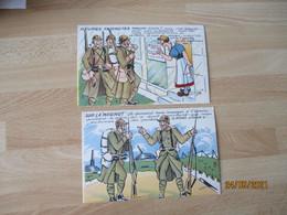 Lot 2 Cpa Illustrateurmay'r Militaire Heures Interdites Sur La Maginot - Sonstige
