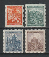 GERMANY REICH 1940 BOHEMIA & MORAVIA OCCUPATION Mi 38-41 MNH ** FULL SET - Nuevos