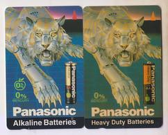 Singapore Old Phonecard Singtel Panasonic Batteries Unused 2 Cards - Pubblicitari