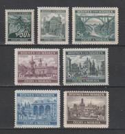GERMANY REICH 1940 BOHEMIA & MORAVIA OCCUPATION Mi 55-61 MNH ** FULL SET - Nuevos