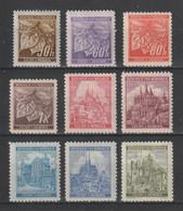 GERMANY REICH 1941 BOHEMIA & MORAVIA OCCUPATION Mi 64-72 MNH ** FULL SET - Nuevos