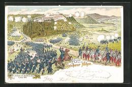 Lithographie Schlacht Am Spicheren Berge 1870 - Sin Clasificación