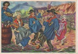 Folklore Auvergne : La Crouzade (CPM Voyagé 1970) - Danze