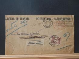 B5164 LETTRE BELGE 1929 POUR TAMISE VIGNETTES RETOUR A L'ENV./REFUSE POUR LA TAXE - Covers