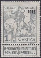 Belgie  .  OBP .    92  (2 Scans)    .   **  .    Postfris   . / .   Neuf SANS Charnière - 1910-1911 Caritas