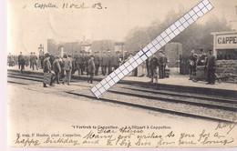 """CAPPELLEN-KAPELLEN """" VERTREK-DEPART A CAPPELLEN-PERRONSCENE""""HOELEN N°1049 TYPE2 UITGIFTE 1903 - Kapellen"""