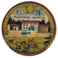 Etiquette Neuve De   MUNSTER  GEROME   à   Martimprey-Gerbepal    (recto-verso) - Cheese