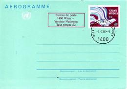 ONU Vienne. Aérogramme De 1982 Avec Oblitération De 1986. - Sonstige