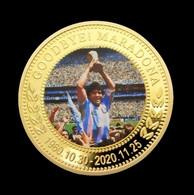 1 Pièce Plaquée OR ( GOLD Plated Coin ) - Hommage à Diego Maradona ( Ref 1 ) - Altre Monete