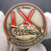 1 Pièce BRONZE ( BRONZE Coin ) - Guerre De Corée Korean War US Army IX Corps Char - Altre Monete