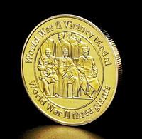1 Pièce Plaquée OR ( GOLD Plated Coin ) - WW2 Médaille De La Victoire Conférence De Yalta - Altre Monete