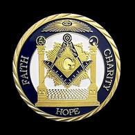 1 Pièce Plaquée OR ( GOLD Plated Coin ) - Franc Maçon Freemason Masonic ( Ref 3A ) - Altre Monete