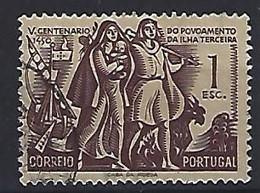 Portugal  1951  500th Ann.of Terceira Colony  1.E  (o) Mi.767 - Used Stamps