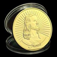 1 Pièce Plaquée OR ( GOLD Plated Coin ) - Jésus Christ Dieu God ( Ref 2 ) - Altre Monete