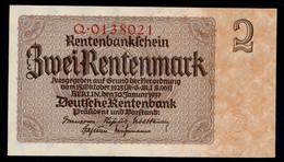 P174a Ro167a DEU-223a 2 Rentenmark 1937 UNC NEUF! - 2 Rentenmark
