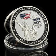 1 Pièce Plaquée ARGENT ( SILVER Plated Coin ) - Etats-Unis USA CIA Aigle Eagle Statue De La Liberté - Altre Monete