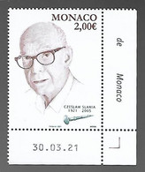 Monaco 2021 - Yv N° 3292 ** - Czeslaw Slania  (coin Daté) - Ongebruikt