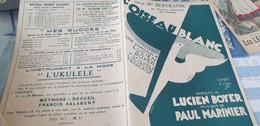 AVIATION /L OISEAU BLANC /LUCIEN BOYER /PAUL MARINIER - Partitions Musicales Anciennes