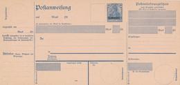 SAARGEBIET / SAARLAND  -  1920/21  ,  Poatanweisung  -  A8a I - Enteros Postales