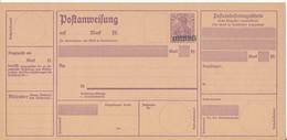 SAARGEBIET / SAARLAND  -  1920/21  ,  Poatanweisung  -  A10 III - Enteros Postales