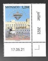 Monaco 2021 - Yv N° 3291 ** - 15ème Jumping International De Monte-Carlo (coin Daté) - Ongebruikt